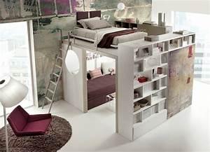 Lit Mezzanine Ado : lit enfant mezzanine avec bureau ~ Teatrodelosmanantiales.com Idées de Décoration