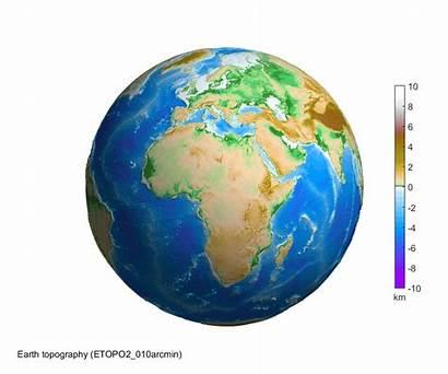 Earth 3d Globe Rotating Topography Sphere Asu