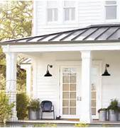 Carson Gooseneck Wall Mount Rejuvenation At Night The Galvanized Fixtures Seem To Disappear Into The Dark All Products Outdoor Outdoor Lighting Heating Outdoor Lighting Like It Over The Door Farm House Pinterest