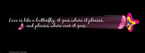 dazzle junction quote love butterfly facebook cover photo