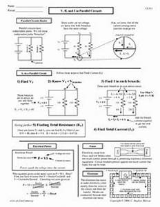 v r and i in parallel circuit worksheet for 10th With worksheets high school electricity circuits worksheets circuit