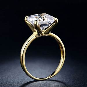 18k gold plated jewelry finger rings for women big cz With big diamond wedding rings for women