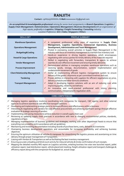 operations manager sample resumes  resume format