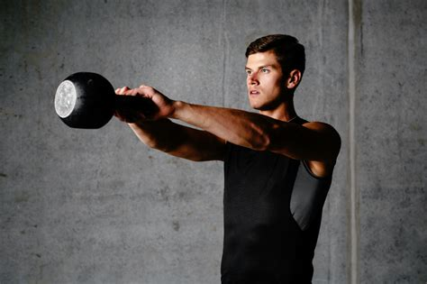 kettlebell working exercises swings workouts training fitness athlete muscular shed joes pros swing bodybuilder lifting depositphotos young cheatsheet same