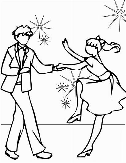 Coloring Dance Pages