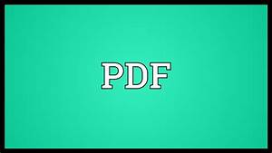 Pdf Meaning