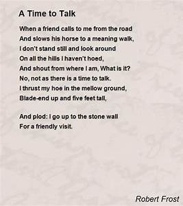 robert frost | Time To Talk Poem by Robert Frost - Poem ...
