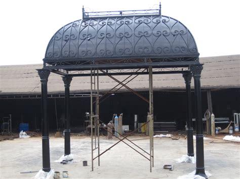10 X 15 Gazebo by 10 X 15 Cast Iron Open Solid Roof Gazebo 26 Ebay