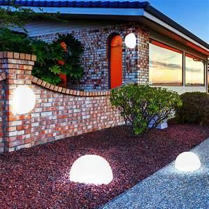 Solarleuchte Garten Kugel : led kugel leuchten set garten beleuchtungen terrasse weg ~ Articles-book.com Haus und Dekorationen
