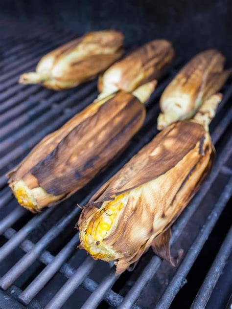 grill corn in husk grilled in the husk corn dad cooks dinner