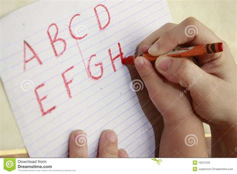 Learning To Write Stock Image Image Of Letter, Educator 15012723