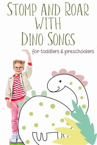 Songs Dinosaur Toddlers Rhymes Preschoolers Song Dinosaurs