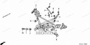 Honda Motorcycle 2002 Oem Parts Diagram For Cowl Stay