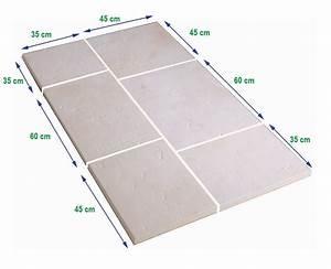 Dalle Pierre Terrasse : dalle terrasse pierre multiformat 2 5cm blanc ~ Preciouscoupons.com Idées de Décoration