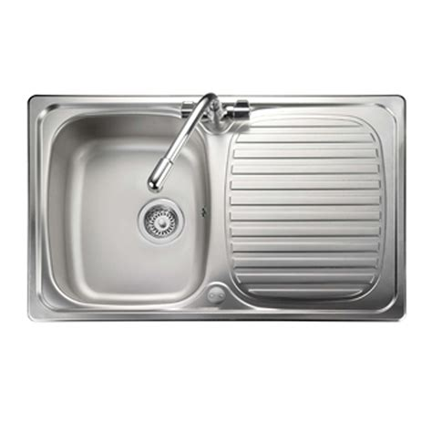 compact kitchen sinks stainless steel leisure linear compact lr8001 stainless steel sink 8294