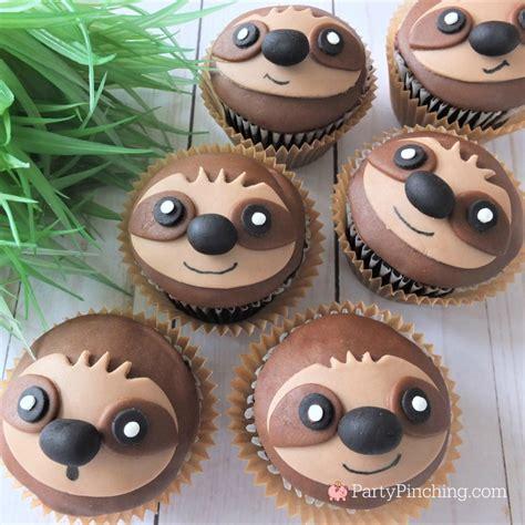 sloth cupcakes  sloth cupcake recipe cute sloth cake
