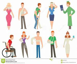 Trauma Accident And Human Body Safety Vector People ...