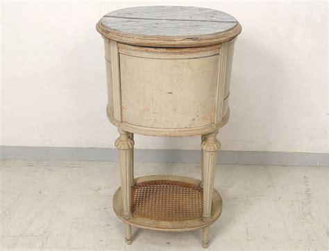 table chevet ovale louis xvi bois laqu 233 cannage marbre couronne xix 232 si 232 cle