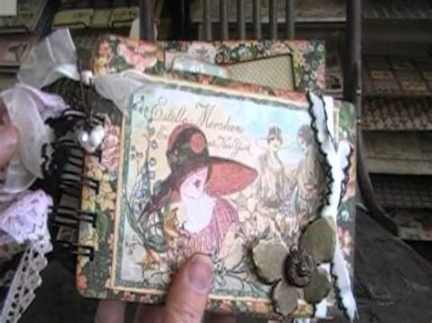 Graphic Ladies Diary Altered Photo Frame Chipboard