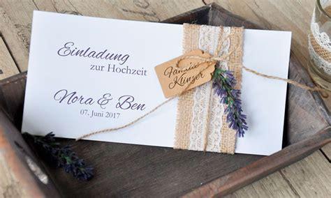 einladungskarten hochzeit vintage sackleinen spitze