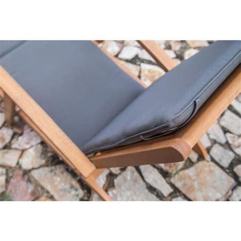 matelas chaise longue finlandek chaise longue en eucalyptus avec matelas gris