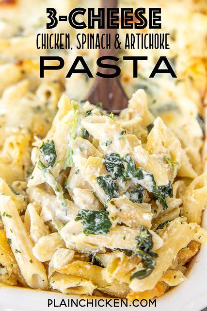 cheese chicken spinach artichoke alfredo pasta