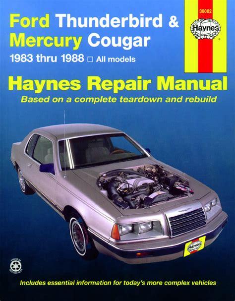 electric power steering 1989 mercury cougar parental controls ford thunderbird mercury cougar inc cougar xr7 1983 1988 haynes repair manual usa