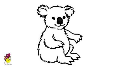 drawn koala easy pencil   color drawn koala easy