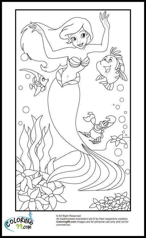 coloring ariel disney princess arielle mermaid ausmalbilder little malvorlagen kinder konabeun punk purple seashell template