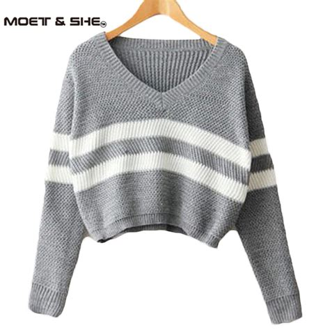 best sweaters 4 colors 2016 sweaters pullovers v neck crop