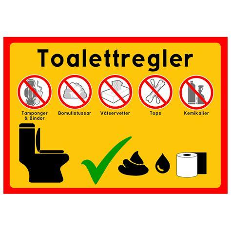 toalettregler alla vara produkter happyprintse