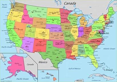 Usa States Map United Mapa America Unidos