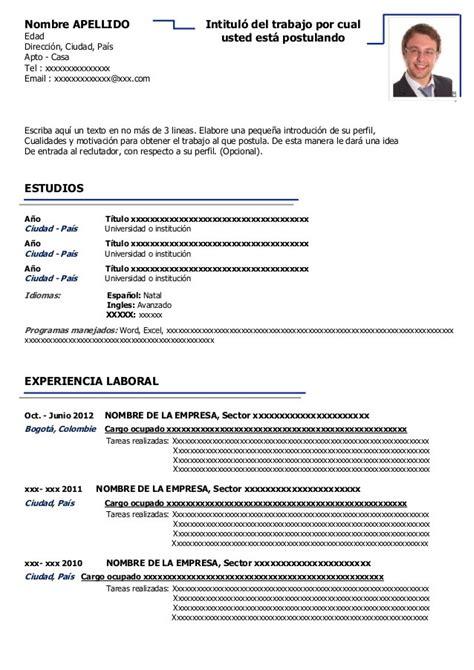 Office Template Curriculum Vitae by Modelo De Curriculum Vitae Openoffice Modelo De