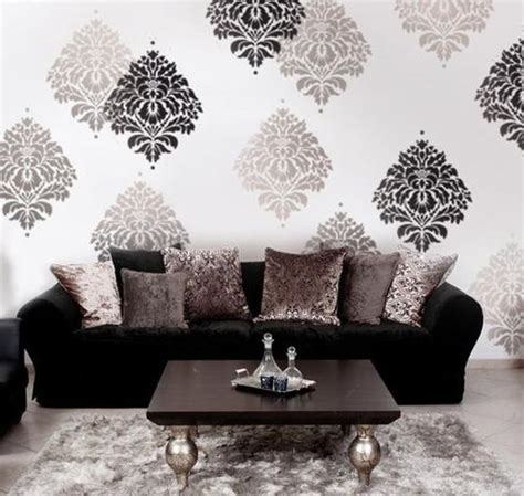 Living Room Ideas Painted Stencils  Free Download Wiring