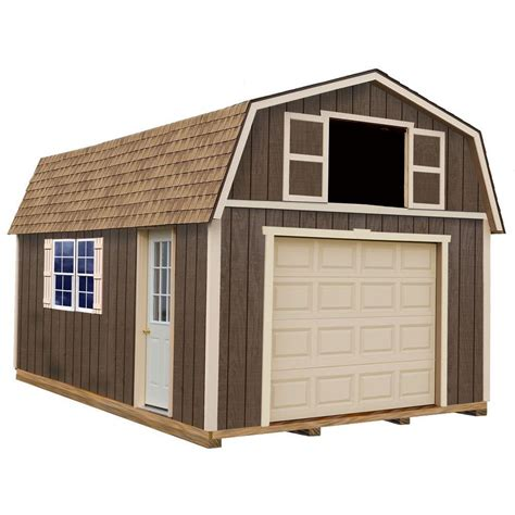 12x16 Shed Kit With Floor by Best Barns Tahoe 12 Ft X 20 Ft Wood Garage Kit With