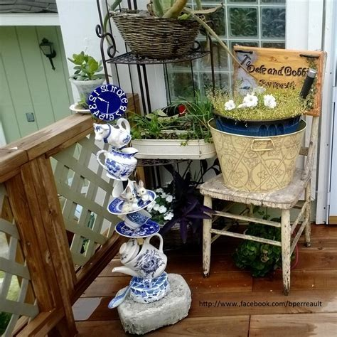 Hometalk   Repurposed Tea Set to Outdoor Decor