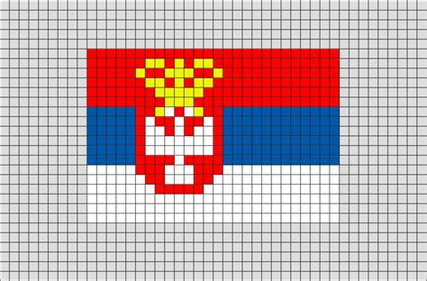 flag of serbia yugoslavia pixel brik pixel designs