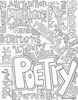 Poem Drawing Poetry Coloring Getdrawings sketch template