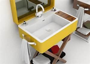 deux modeles meuble vasque salle de bain olympiaceramica With meuble de salle de bain jaune