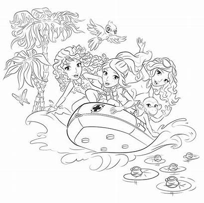 Lego Coloring Friends Pages Rescue