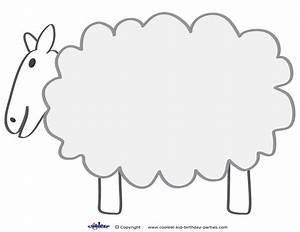 sheep cut out clipart best With lamb cut out template