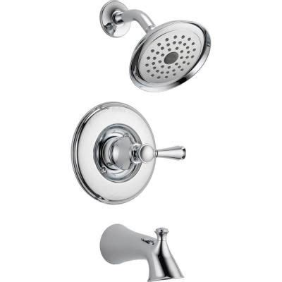 delta silverton faucet brushed nickel delta silverton single handle 1 spray tub and shower