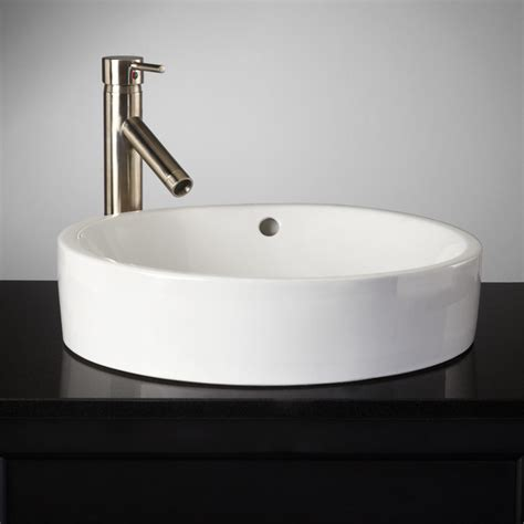 semi recessed bathroom sink kinser semi recessed sink traditional bathroom sinks
