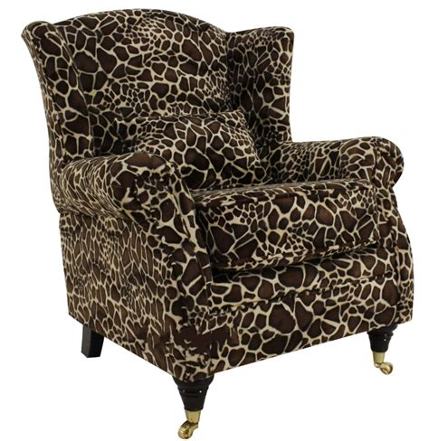 wing chair fireside high back armchair giraffe