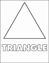 Triangle Shapes Coloring Pages Triangles Printable Triagle Shape Toddlers Template Preschool Worksheets Sheets Worksheet Netart Bestcoloringpagesforkids Templates Children Basic Bermuda sketch template
