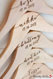 personalized hangers for bridesmaids 5 personalized bridesmaid hangers engraved wood