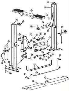 Parts Breakdown For Rotary Lift Models Sp80    Sp84    Mark