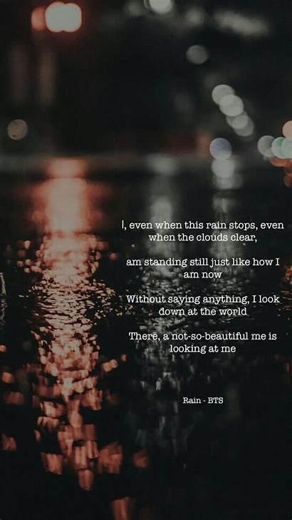 Bts Lyrics Quotes Sad Rm Wallpapers Rain
