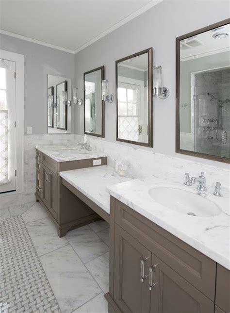 taupe vanity transitional bathroom kitchen lab