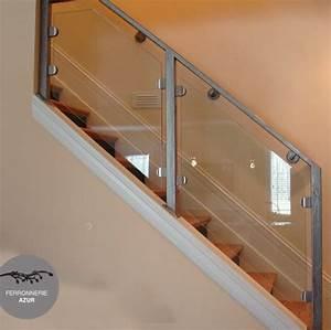 Rampe D Escalier Moderne : fabrication rampe d 39 escalier en inox et verre le pradet var ~ Melissatoandfro.com Idées de Décoration